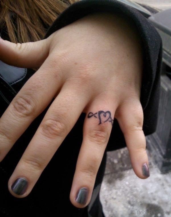 Heart Tattoo Design On Finger