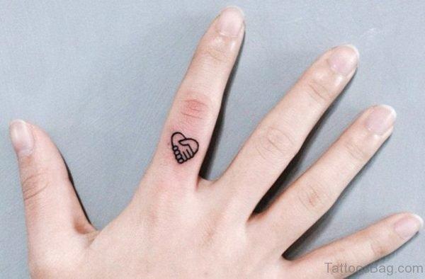 Cute Heart Tattoo On Finger