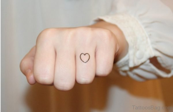 Heart Tattoos Ring Finger