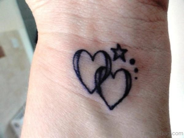 Heart With Star Tattoo