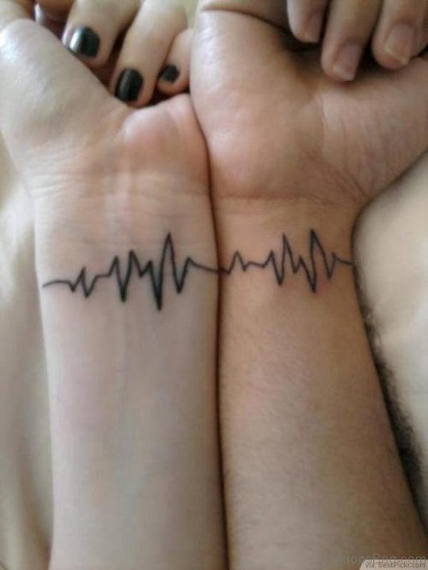 Heartbeat Tattoo On Wrist