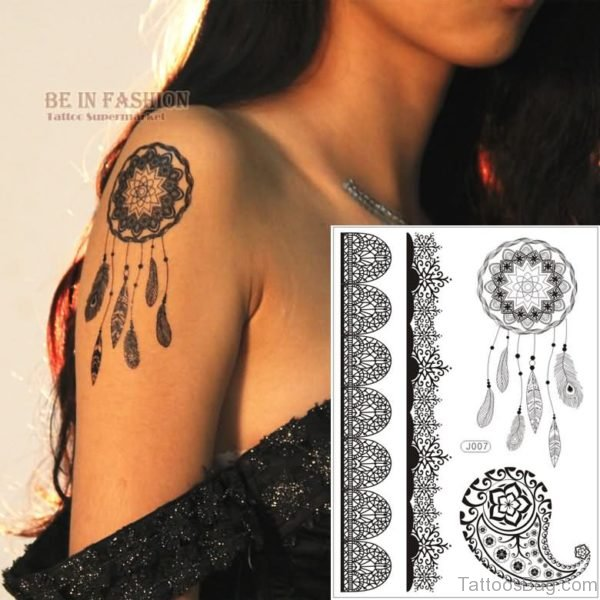 Henna Dream Catcher Tattoo