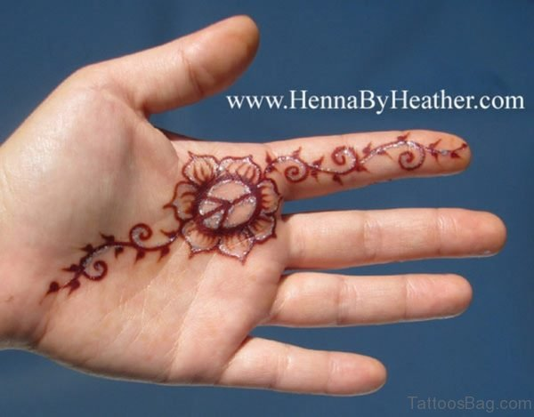 Heena Flower Tattoo