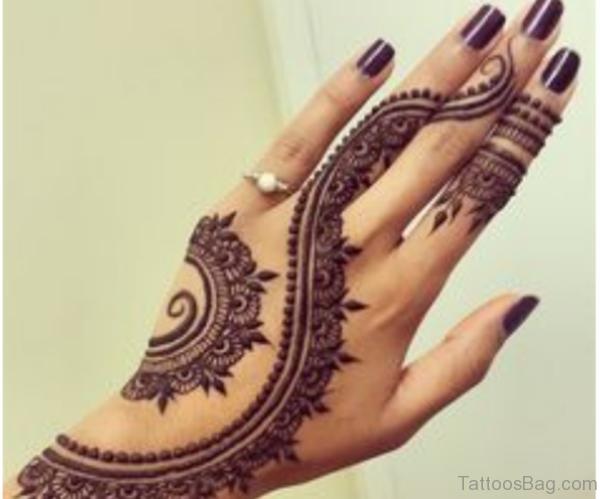 Heena Hand Tattoo