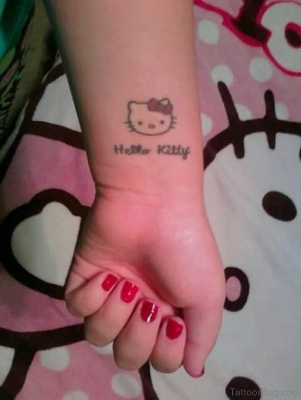 Hello kitty Wrist Tattoo