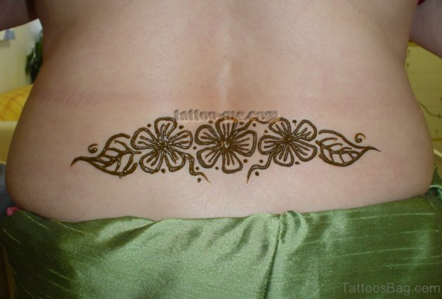 Mehndi Tattoos For Arms : Bright henna tattoos on back