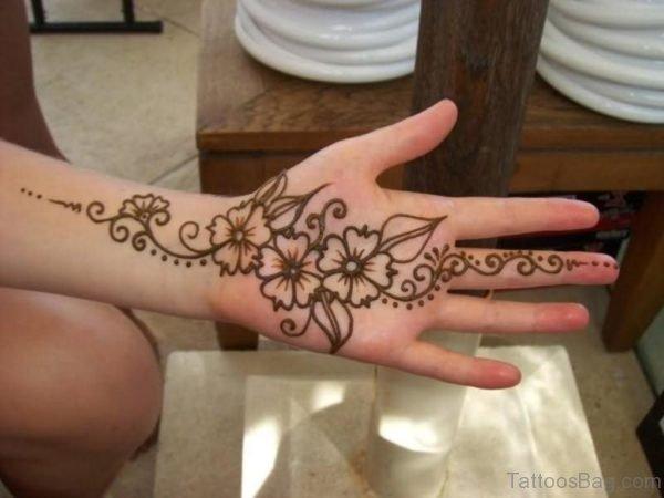 Henna Tattoo On Girl Hand