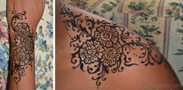 Henna Tattoo On Shoulder
