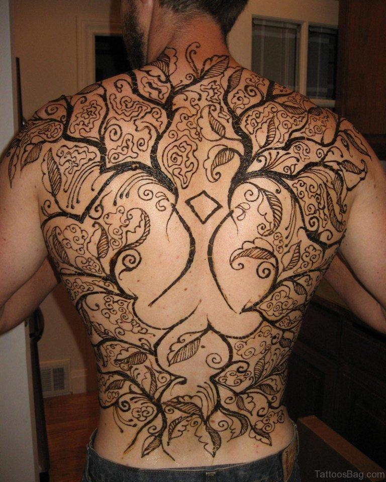 Henna Tattoo Designs For Men: 60 Marvelous Back Tattoos For Men