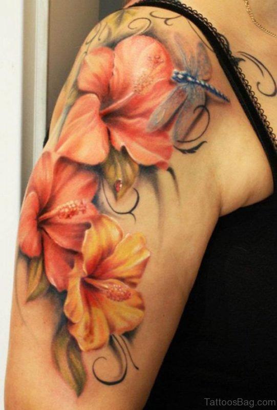 Hibiscus Flower Tattoo