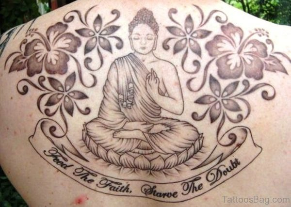 Hibiscus Flowers And Buddha Tattoo