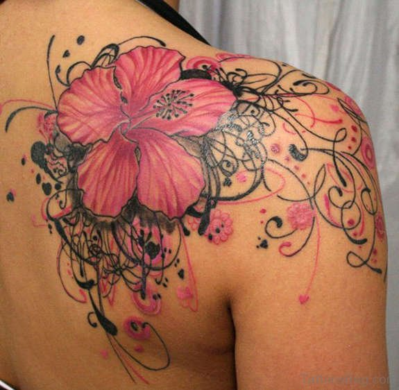 Hibiscus Red Flower Tattoo
