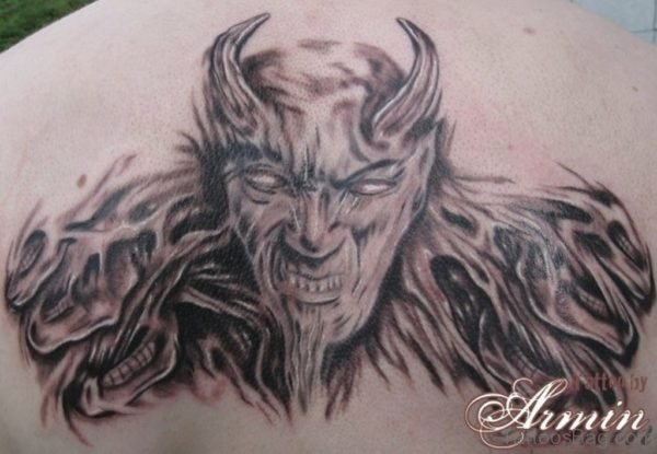 Horror Devil Tattoo