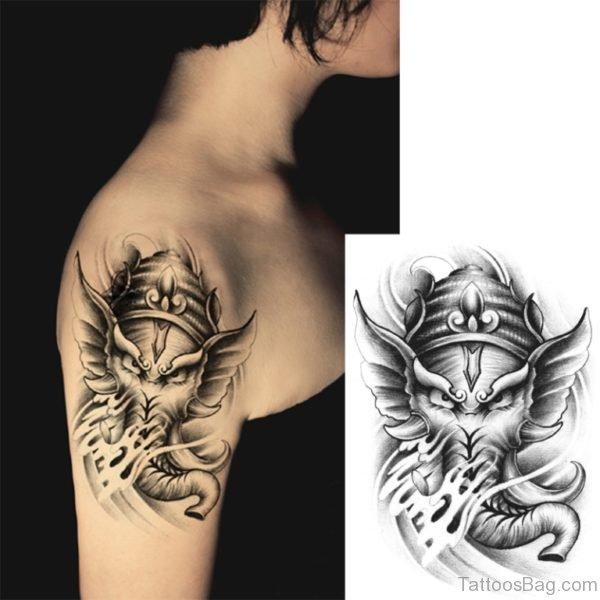 Horror Elephant Tattoo