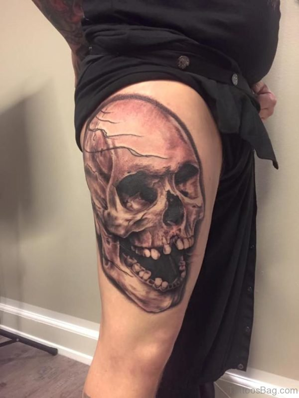 Horror Skull Tattoo Design