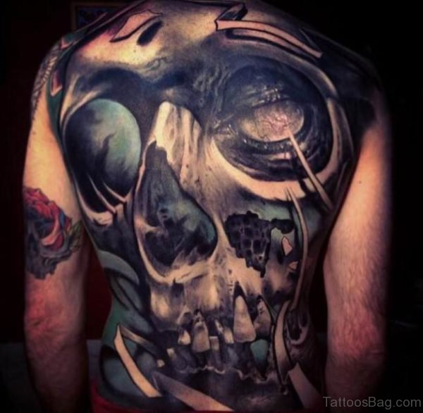 Horror Skull Tattoo