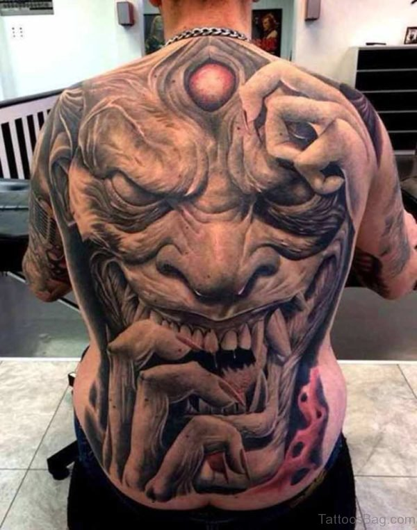 Horror Tattoo On Full Back