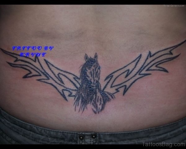Horse And Tribal Tattoo