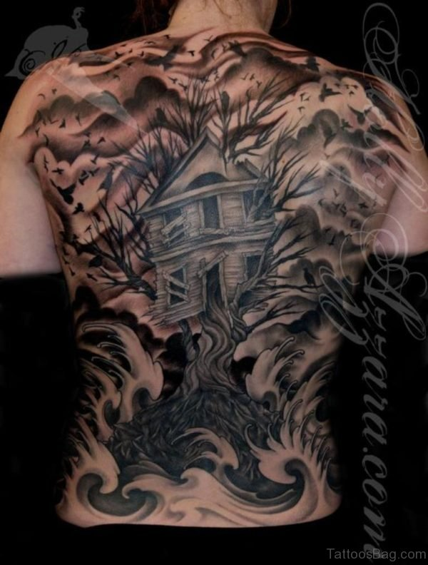 House And Tree Tattoo