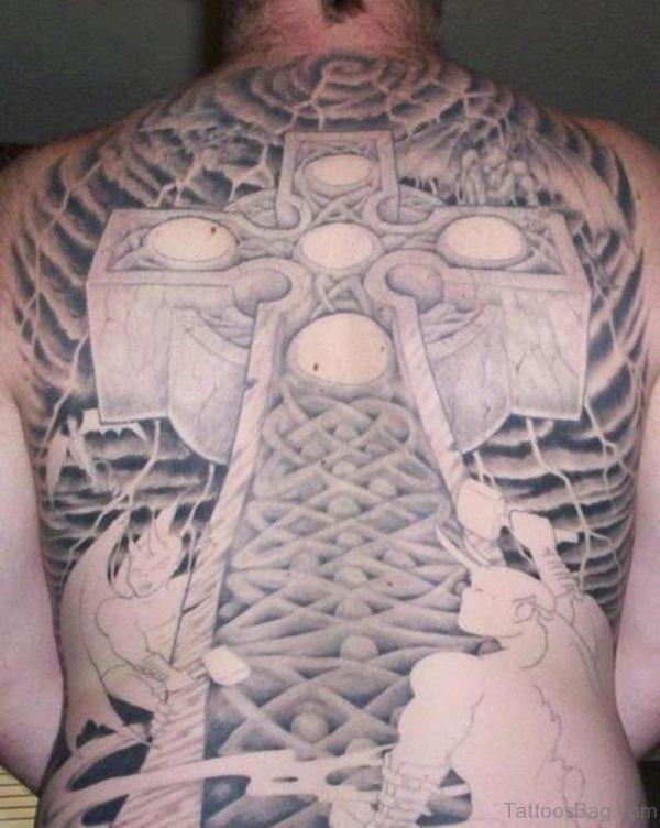 Huge Celtic Cross Tattoo