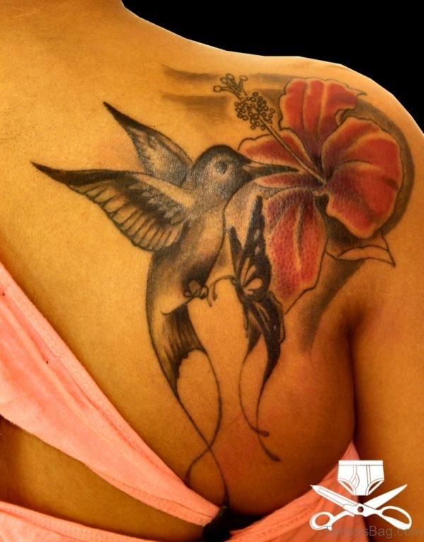 Nice Hummingbird Tattoo