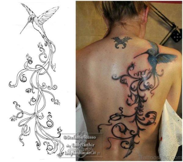 Amazing Hummingbird Tattoo