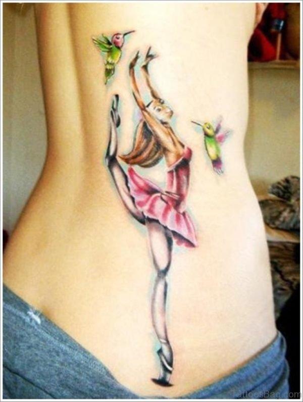 Hummingbird Tattoo  On Lower Back