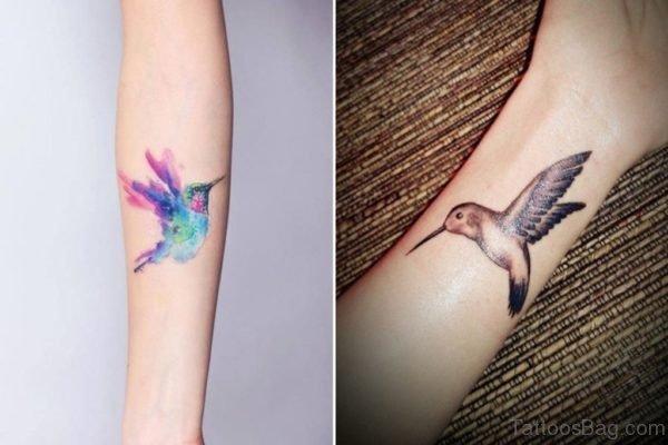 Hummingbird Wrist Tattoo
