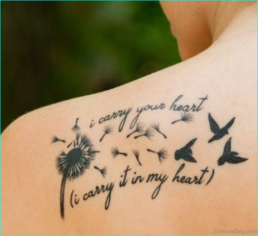 Tattoo Cursive Black Rip Birds Quote For Every: 40 Great Looking Birds Tattoos On Back