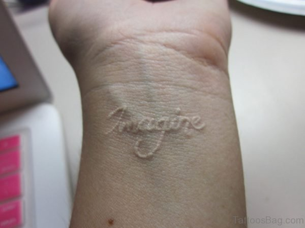 Imagine Word Tattoo
