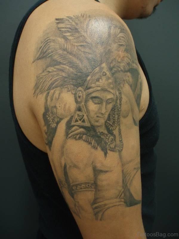 Impressive Aztec Tattoo