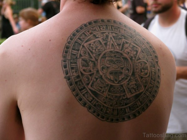 Impressive Aztec Tattoo On Back