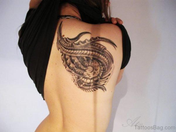 Impressive Biomechanical Tattoo Design