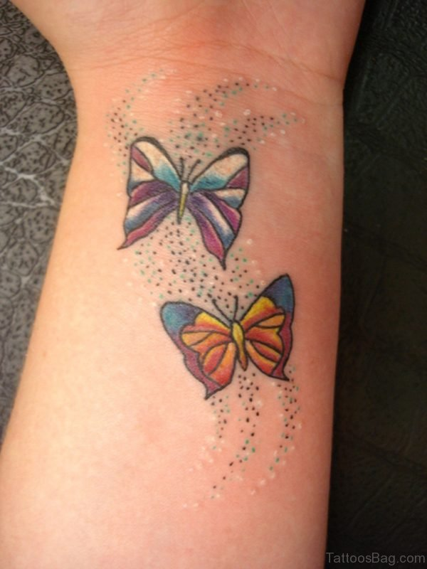 Impressive Butterfly Tattoo On Wrist