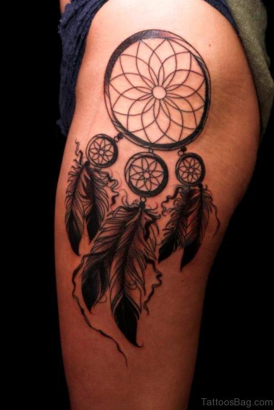 Impressive Dreamcatcher Tattoo