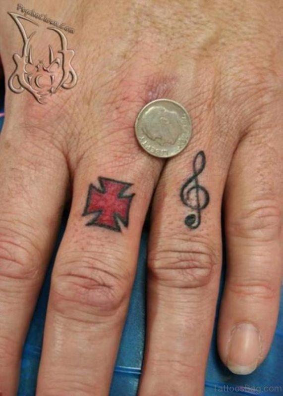 Impressive Finger Tattoo