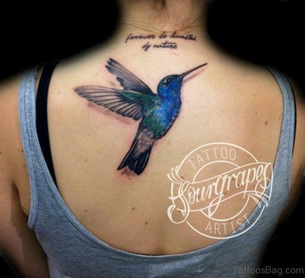 Impressive Hummingbird Tattoo