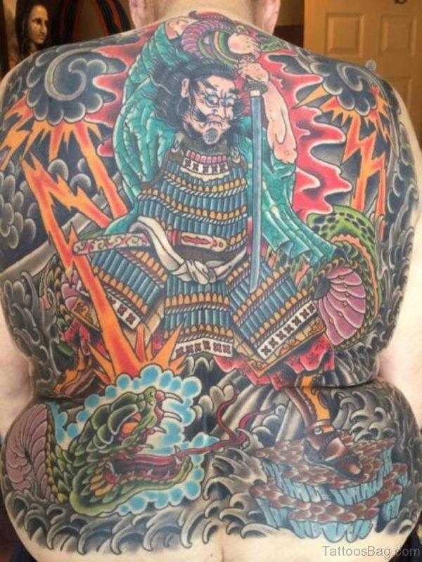 Impressive Japanese Samurai Tattoo