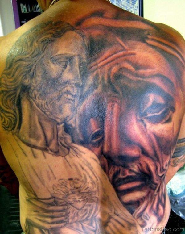 Impressive Jesus Tattoo