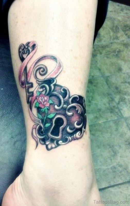 Impressive Lock and Key Tattoo