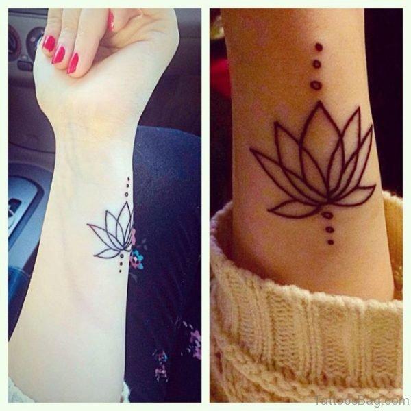 Impressive Lotus Tattoo On Wrist