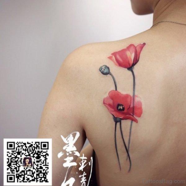 Impressive Poppy Tattoo