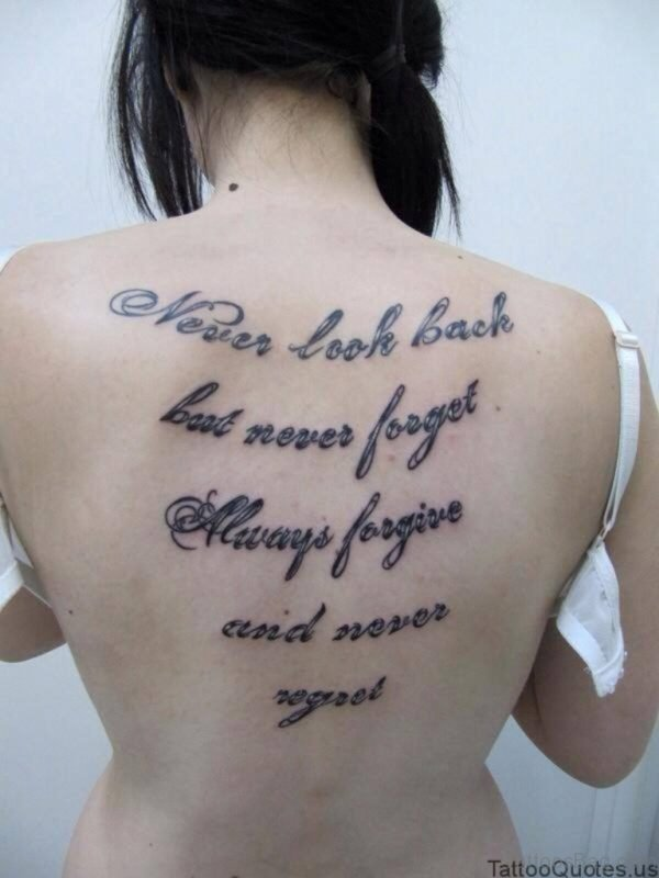 Impressive Quotes Tattoo