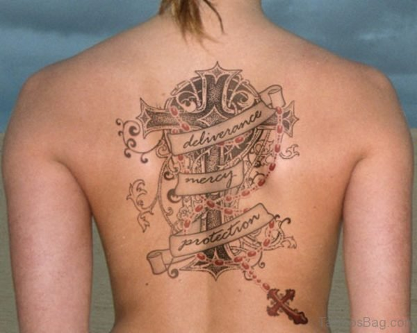 Impressive Rosary Tattoo Design