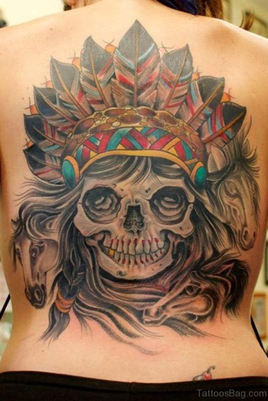 Indian Skull Tattoo