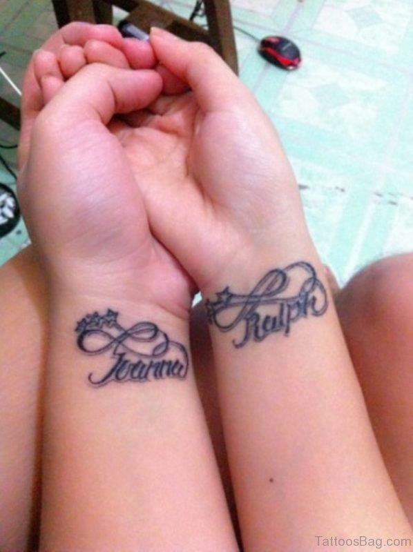 Infinity And Name Tattoo