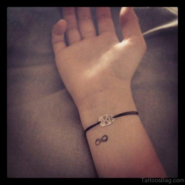 Infinity Sign Tattoo On Wrist