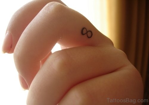 Infinity Symbol Tattoo On Finger