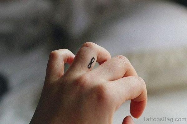 Infinity Symbol Tattoo On Finger