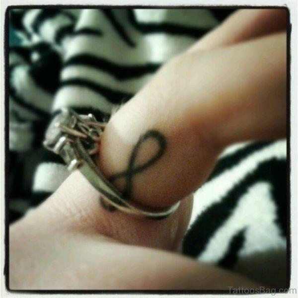 Infinity Tattoo Design On Finger